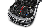 Car Stock 2018 Mercedes Benz SLC-Roadster AMG-SLC43 2 Door Convertible Engine  high angle detail view