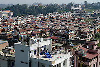 NEPAL Kathmandu, city growth, gated community / Staedtewachstum, gated community