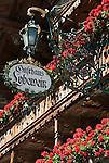 Austria, Tyrol, Ellmau: mountain inn Lobewein, balcony with flower boxes