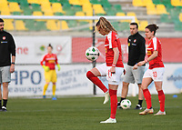 20190227 - LARNACA , CYPRUS : Austrian Sonja Hickelsberger-Fuller pictured during warming up of a women's soccer game between the Super Falcons of Nigeria and Austria , on Wednesday 27 February 2019 at the AEK Arena in Larnaca , Cyprus . This is the first game in group C for both teams during the Cyprus Womens Cup 2019 , a prestigious women soccer tournament as a preparation on the Uefa Women's Euro 2021 qualification duels. PHOTO SPORTPIX.BE | DAVID CATRY