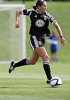 BOYDS, MARYLAND - July 22, 2012:  Holly King (16) of DC United Women moves forward against the Charlotte Lady Eagles during the W League Eastern Conference Championship match at Maryland Soccerplex, in Boyds, Maryland on July 22. DC United Women won 3-0.