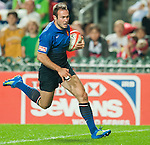 Australia play France during Day 1 of the Cathay Pacific / HSBC Hong Kong Sevens 2012 at the Hong Kong Stadium in Hong Kong, China on 23rd March 2012. Photo © Felix Ordonez  / The Power of Sport Images