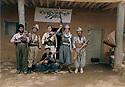Iran 1982  .Dr. Hadwin Shatavi, Kurdish surgeon with his bodygards  in front the hospital of Ghalve  .Iran 1982   .Dr. Hadwin Shatavi, chirurgien kurde, a l'hopital du PDKI de Ghalve avec ses gardes du corps