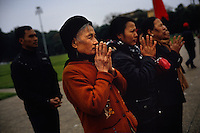Vietnamese offer their respects at the mausoleum for Ho Chi Minh in Hanoi, Vietnam on 18 February 2010.