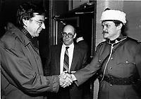 Montreal (QC) CANADA file photo - Dec 19 1987 -Sid Stevens (M) watch  Robert Bourassa visit Sun Youth
