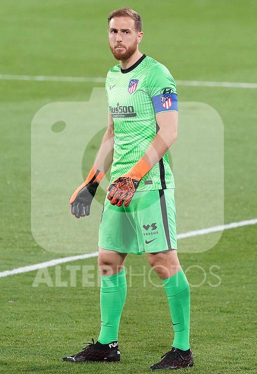 Atletico de Madrid's Jan Oblack during La Liga match. September 30,2020. (ALTERPHOTOS/Acero)