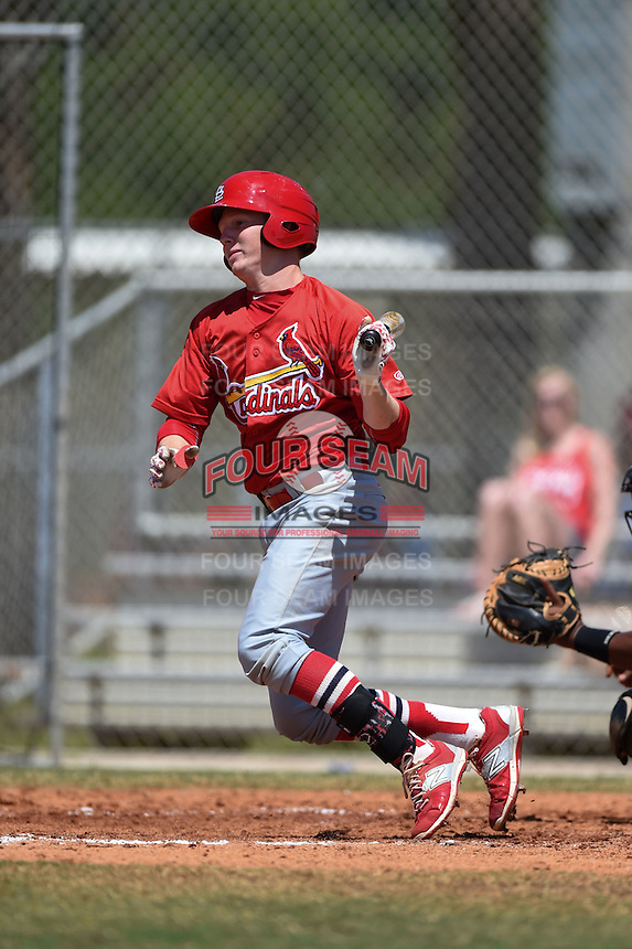 St. Louis Cardinals Blake Drake (4) during a minor league spring training game against the Miami Marlins on March 31, 2015 at the Roger Dean Complex in Jupiter, Florida.  (Mike Janes/Four Seam Images)