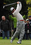 4 October 2008: Jason Day watches a tee shot during the third round at the Turning Stone Golf Championship in Verona, New York.