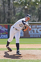 Kyle Hooper of the University of California at Irvine pitching during a game against James Madison University at the Baseball at the Beach Tournament held at BB&T Coastal Field in Myrtle Beach, SC on February 28, 2010.