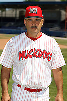 June 30th, 2007:  Mark DeJohn of the Batavia Muckdogs, Short-Season Class-A affiliate of the St. Louis Cardinals at Dwyer Stadium in Batavia, NY.  Photo by:  Mike Janes/Four Seam Images