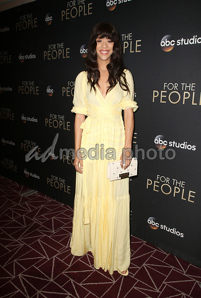 """10 March 2018-  West Hollywood, California - Jasmin Savoy Brown. Premiere Of ABC's """"For The People"""" held at The London West Hollywood. Photo Credit: Faye Sadou/AdMedia"""