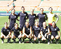 Starting eleven of Washington Freedom during a WPS match against Sky Blue FC at RFK Stadium on May 23, 2009 in Washington D.C. Freedom won the match 2-1