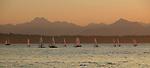 Sailboats, Golden Gardens Park, Seattle, Washington