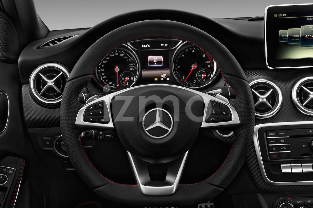 Car pictures of steering wheel view of a 2016 Mercedes Benz A-Class Fascination 5 Door Hatchback Steering Wheel