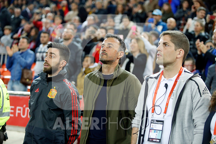Spain's coach Luis Enrique during the Qualifiers - Group F to Euro 2020 football match between Spain and Norway on 23th March, 2019 in Valencia, Spain. (ALTERPHOTOS/Manu R.B.)