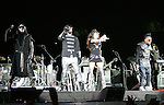 Taboo,Will.i.am,Fergie & Apl.de.ap of The Black Eyed Peas opened for U2's - 360° Tour ,the show was being broadcast live on youtube from The Rose Bowl in Pasadena, California on October 25,2009                                                                   Copyright 2009 DVS / RockinExposures