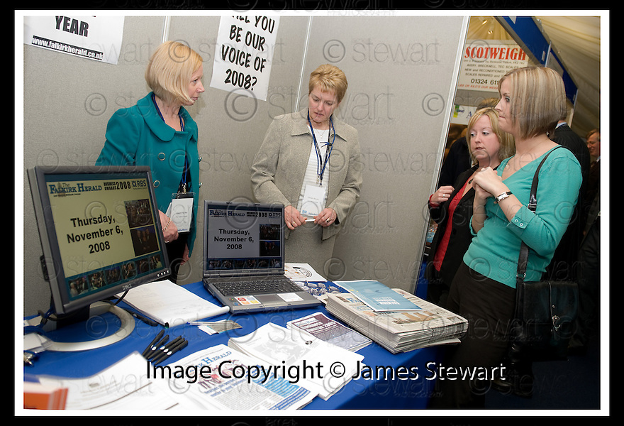 30/04/2008   Copyright Pic: James Stewart.File Name : 11_business_fair.FALKIRK BUSINESS FAIR 2008.FALKIRK HERALD.James Stewart Photo Agency 19 Carronlea Drive, Falkirk. FK2 8DN      Vat Reg No. 607 6932 25.Studio      : +44 (0)1324 611191 .Mobile      : +44 (0)7721 416997.E-mail  :  jim@jspa.co.uk.If you require further information then contact Jim Stewart on any of the numbers above........