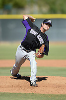 Colorado Rockies pitcher Bruce Kern (15) during an instructional league game against the Los Angels Angels of Anaheim on September 30, 2013 at Tempe Diablo Stadium Complex in Tempe, Arizona.  (Mike Janes/Four Seam Images)