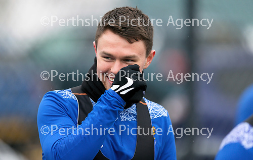 St Johnstone Training...   29.01.21<br />Glenn Middleton pictured during a training session at McDiarmid Park this morning ahead of tomorrows game at Kilmarnock.<br />Picture by Graeme Hart.<br />Copyright Perthshire Picture Agency<br />Tel: 01738 623350  Mobile: 07990 594431