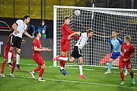 2nd June 2021, Tivoli Stadion, Innsbruck, Austria; International football friendy, Germany versus Denmark;   Goal chance for Thomas MUELLER GER but cleared by Jannik VESTERGAARD DEN