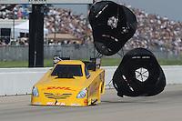 May 22, 2011; Topeka, KS, USA: NHRA funny car driver Jeff Arend during the Summer Nationals at Heartland Park Topeka. Mandatory Credit: Mark J. Rebilas-