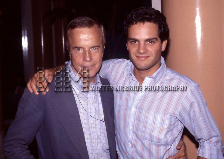 Franco Zeffirelli and Actor Martin Hewitt at the Parker  Hotel for the 'Endless Love' New York City Premiere on July 16, 1981 at Gemini Theater in New York City.