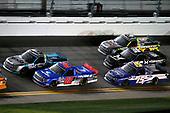 #52: Stewart Friesen, Halmar Friesen Racing, Toyota Tundra Halmar International and #13: Johnny Sauter, ThorSport Racing, Ford F-150 Tenda