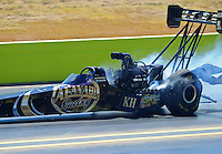 Sept. 25, 2011; Ennis, TX, USA: NHRA top fuel dragster driver Del Worsham during the Fall Nationals at the Texas Motorplex. Mandatory Credit: Mark J. Rebilas-