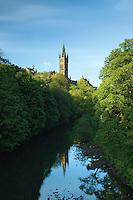 Glasgow University and the River Kelvin, Kelvingrove Park, Glasgow<br /> <br /> Copyright www.scottishhorizons.co.uk/Keith Fergus 2011 All Rights Reserved