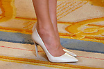 Queen Letizia of Spain's shoes during the official lunch for 'Miguel de Cervantes 2016' Literature award at the Royal Palace. April 19 ,2017. (ALTERPHOTOS/Pool)