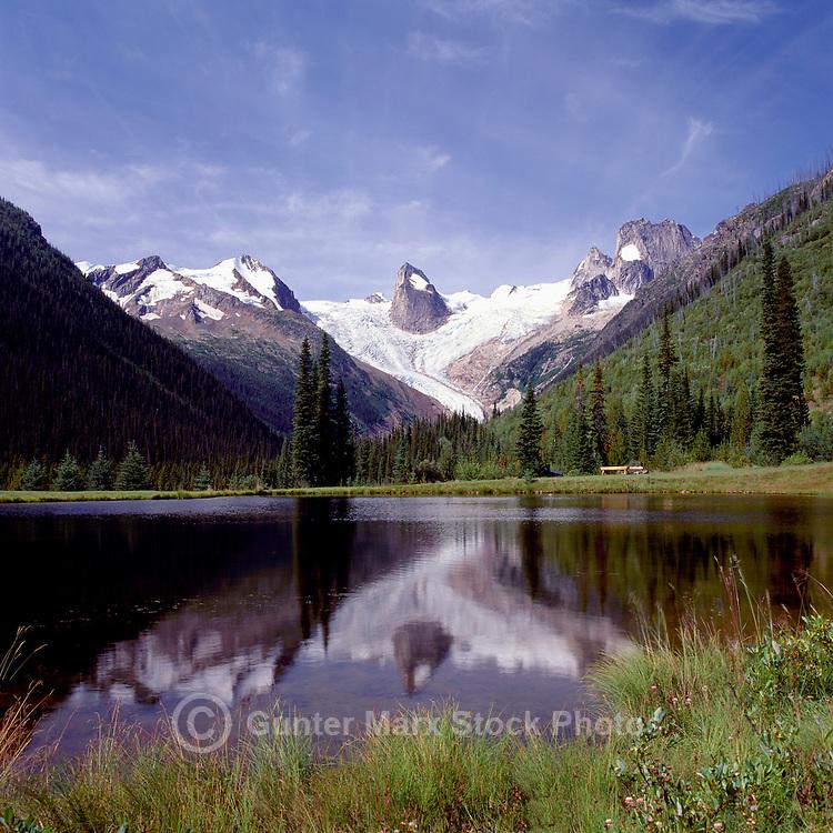 Purcell Mountains, Bugaboo Provincial Park, BC, British Columbia, Canada - Bugaboo Glacier and Marmalota Peak