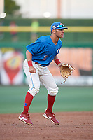Clearwater Threshers third baseman Jake Scheiner (7) during a Florida State League game against the Tampa Tarpons on April 18, 2019 at Spectrum Field in Clearwater, Florida.  Clearwater defeated Tampa 10-3.  (Mike Janes/Four Seam Images)