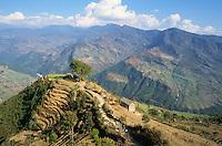 NEPAL Himalaya, village in mountains / NEPAL Himalaja, Dorf in Berghaengen im Himalaya Gebirge