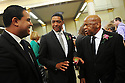 US Rep. Cedric Richmond and US Rep John Lewis  at former US Rep. Lindy Boggs'  funeral at St. Louis Cathedral, New Orleans, Aug. 1, 2013.