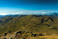 The Munro of Cruach Ardrain from Stob Binnein, Loch Lomond and the Trossachs National Park