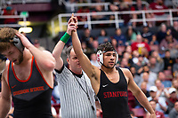 STANFORD, CA - March 7, 2020: Real Woods of Stanford 2020 Pac-12 Wrestling Championships at Maples Pavilion.