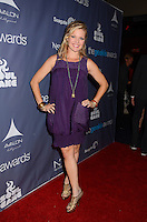 Clare Kramer<br /> The first annual Geekie Awards at The Avalon Hollywood in Hollywood, CA., USA.  <br /> August 18th, 2013<br /> full length purple sheer dress hand on hip sleeveless <br /> CAP/ADM/BT<br /> ©Birdie Thompson/AdMedia/Capital Pictures