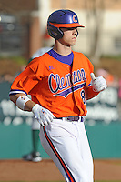 Clemson Tigers First Baseman Richie Shaffer during the opener of the 2011 season against the Eastern Michigan Eagles at Doug Kingsmore Stadium, Clemson, SC. Clemson won 14-3. Photo By Tony Farlow/Four Seam Images.