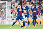 Andre Filipe Tavares Gomes (l) of FC Barcelona competes for the ball with Daniel Carvajal Ramos of Real Madrid during their Supercopa de Espana Final 2nd Leg match between Real Madrid and FC Barcelona at the Estadio Santiago Bernabeu on 16 August 2017 in Madrid, Spain. Photo by Diego Gonzalez Souto / Power Sport Images