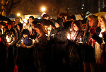 Naugatuck, CT-18 December 2012-121812CM05- Hundreds of people packed the Naugatuck Green during a vigil honoring the late Dawn Lafferty Hochsprung, a Naugatuck, who was killed during the Sandy Hook Elementary School shooting.  Hochsprung was the principal at the Sandy Hook.    Christopher Massa Republican-American