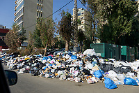 LEBANON, Beirut, for 3 weeks the waste is not collected / LIBANON, Beirut, seit 3 Monaten wird der Müll nicht abgeholt