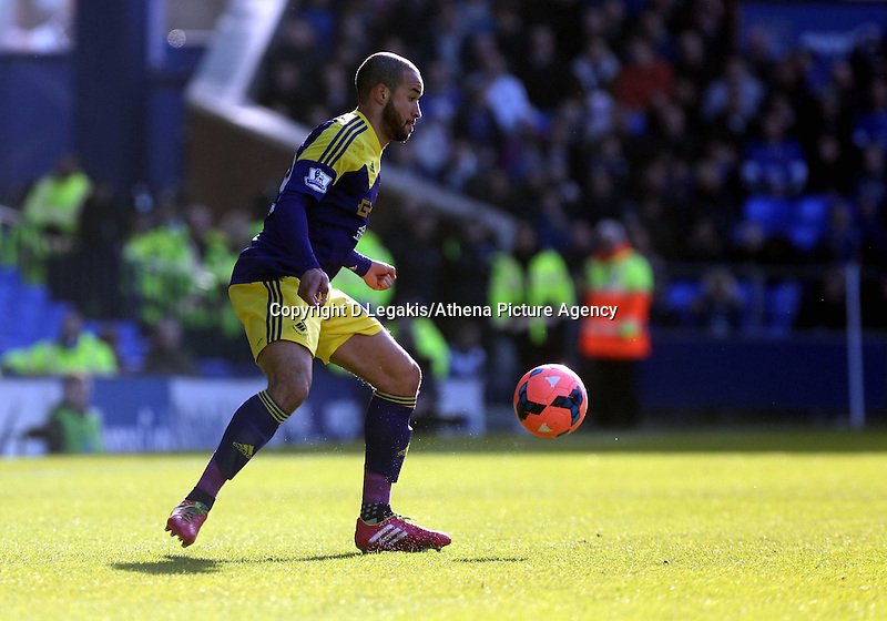 """Pictured: Ashley """"Jazz"""" Richards of Swansea.  Sunday 16 February 2014<br /> Re: FA Cup, Everton v Swansea City FC at Goodison Park, Liverpool, UK."""