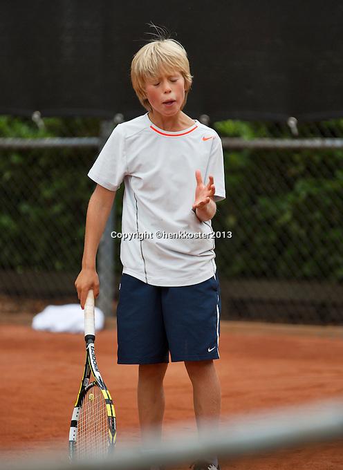 07-08-13, Netherlands, Rotterdam,  TV Victoria, Tennis, NJK 2013, National Junior Tennis Championships 2013, Ole Bredschneijder<br /> <br /> <br /> Photo: Henk Koster