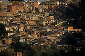 Sao Paulo, Brazil. Favela shanty town with rough brick and wooden shacks.