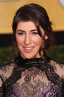 LOS ANGELES, CA - JANUARY 18: Mayim Bialik at the 20th Annual Screen Actors Guild Awards held at The Shrine Auditorium on January 18, 2014 in Los Angeles, California. (Photo by Xavier Collin/Celebrity Monitor)