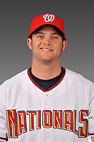 14 March 2008: ..Portrait of Luke Pisker, Washington Nationals Minor League player at Spring Training Camp 2008..Mandatory Photo Credit: Ed Wolfstein Photo
