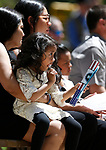 Maleah Isaako, 4, sits with her grandmother Arlyn Eng during the 22nd annual Nevada Law Enforcement Officers Memorial cermony in Carson City, Nev., on Thursday, May 2, 2019. <br /> Photo by Cathleen Allison/Nevada Momentum