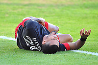 WASHINGTON, DC - NOVEMBER 8: Gelmin Rivas #20 of D.C. United gets fouled during a game between Montreal Impact and D.C. United at Audi Field on November 8, 2020 in Washington, DC.