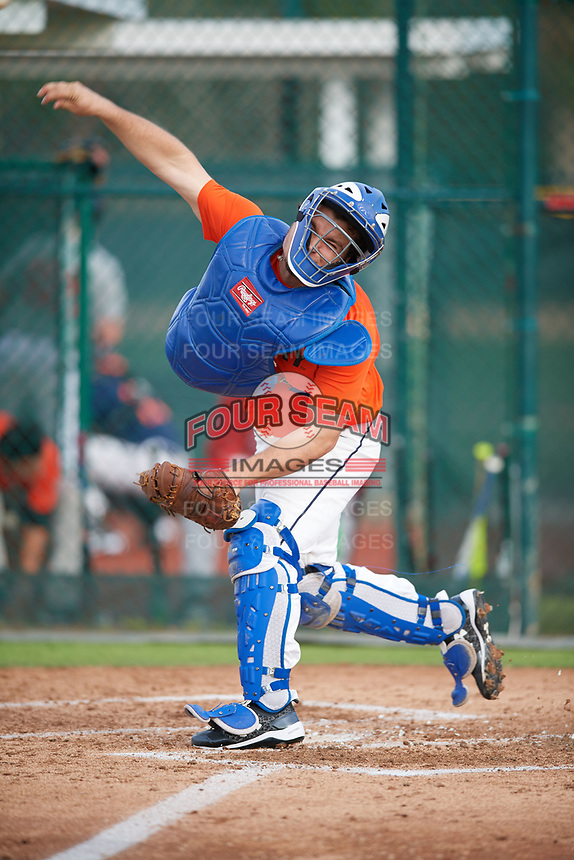 Henry Goodier (67), from Chadds Ford, Pennsylvania, while playing for the Orioles during the Baseball Factory Pirate City Christmas Camp & Tournament on December 27, 2017 at Pirate City in Bradenton, Florida.  (Mike Janes/Four Seam Images)