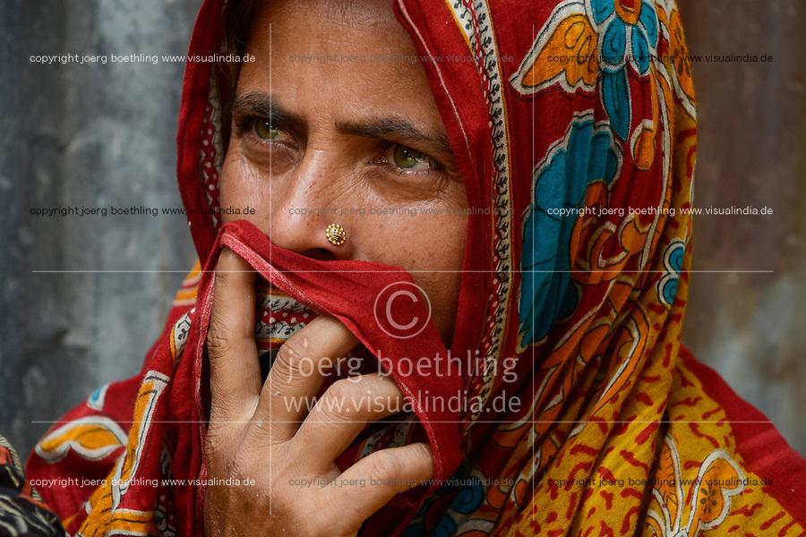 BANGLADESH,  District Tangail, Kalihati, portraiture of woman in Sari / BANGLADESCH, Distrikt Tangail, Kalihati, Portraet einer Frau im Sari